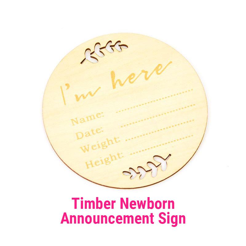 Newborn Announcement sign